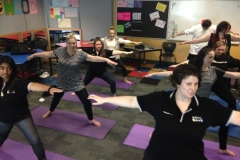 Classroom Yoga VCAL students